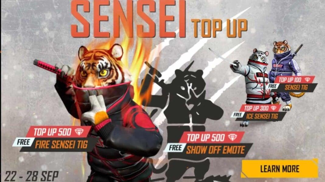 Free Fire Sensei Tig Top up