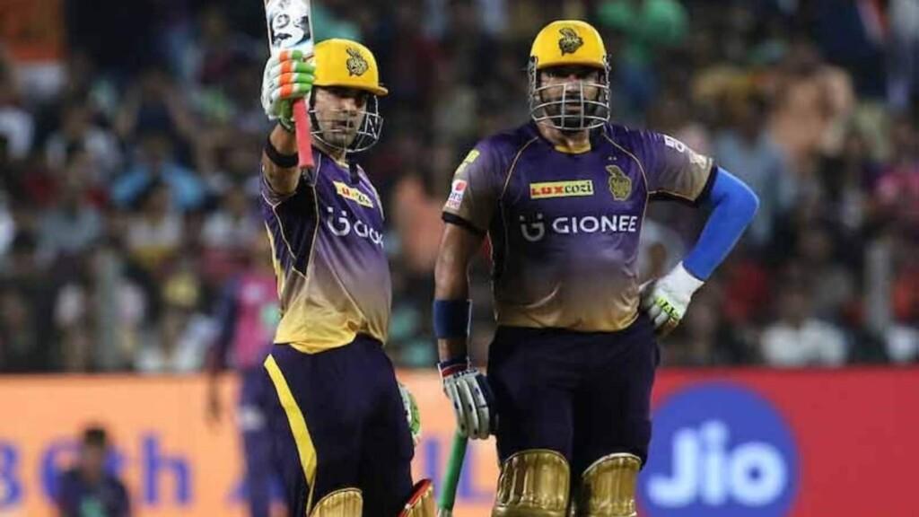 Highest opening partnerships in run chases coming in defeats, Gautam Gambhir and Robin Uthappa