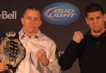 Georges St Pierre and Nick Diaz