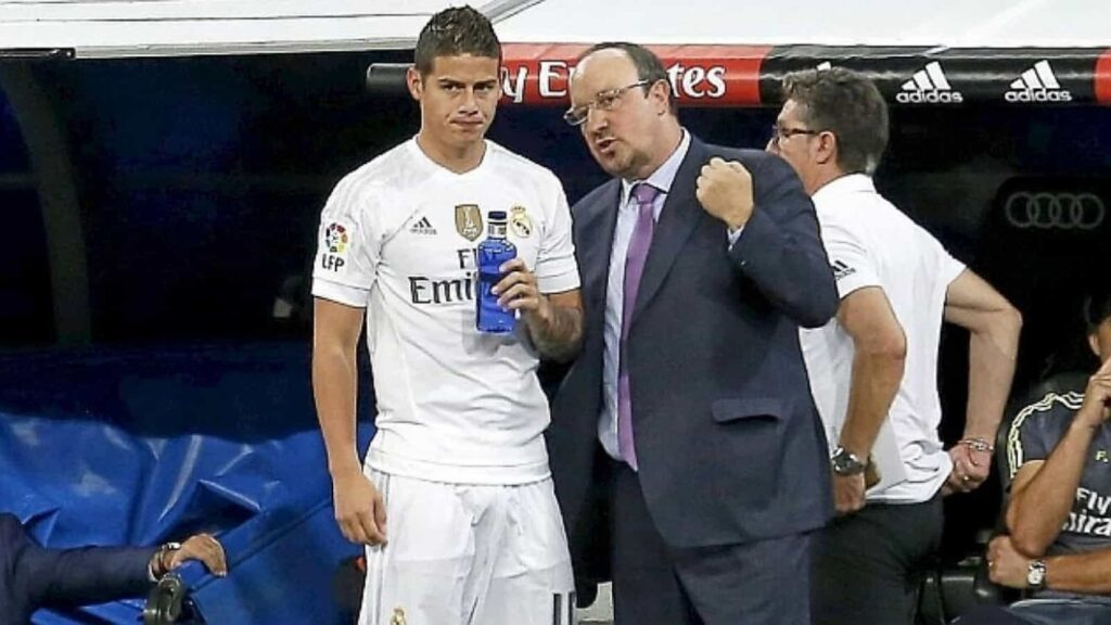 James and Rafa Benitez did not share a cordial relationship - FirstSportz