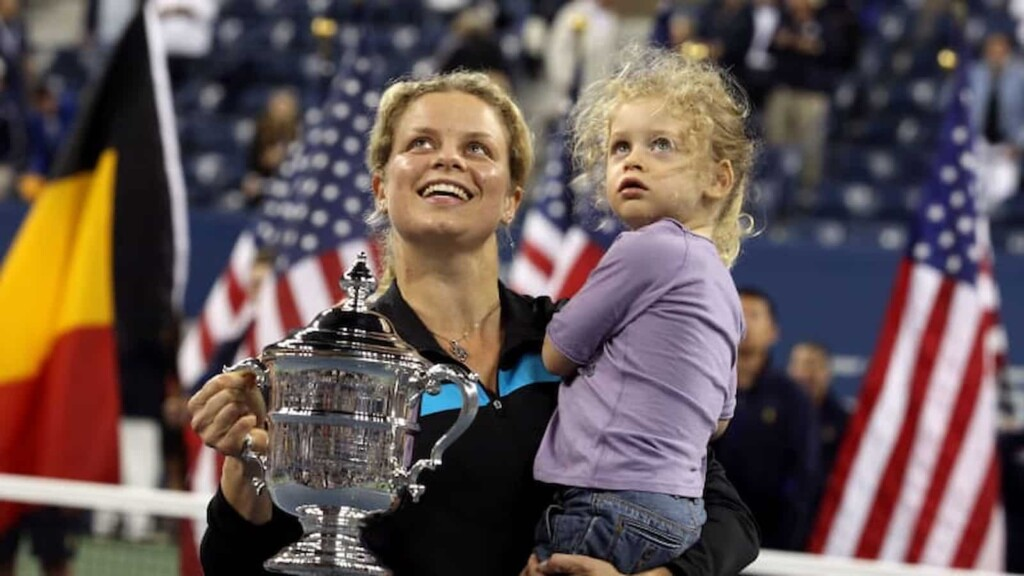 Kim Clijsters with her daughter Jada at the 2009 US Open