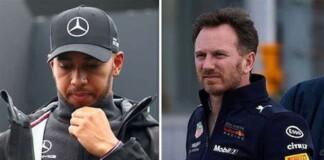 Lewis Hamilton and Christian Horner