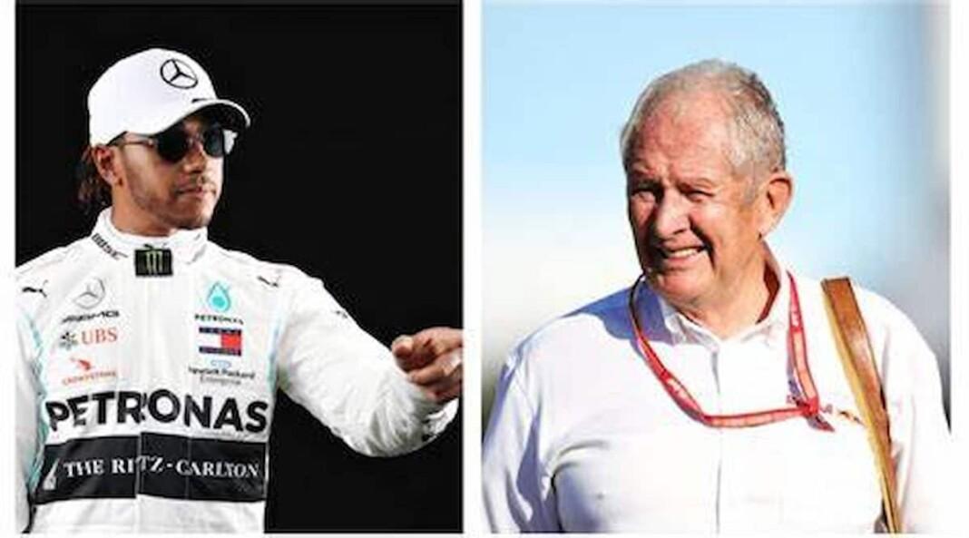 Lewis Hamilton and Helmut Marko