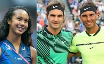 Leylah Fernandez, Roger Federer, Rafael Nadal