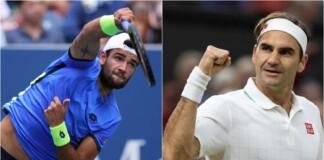 Matteo Berrettini and Roger Federer