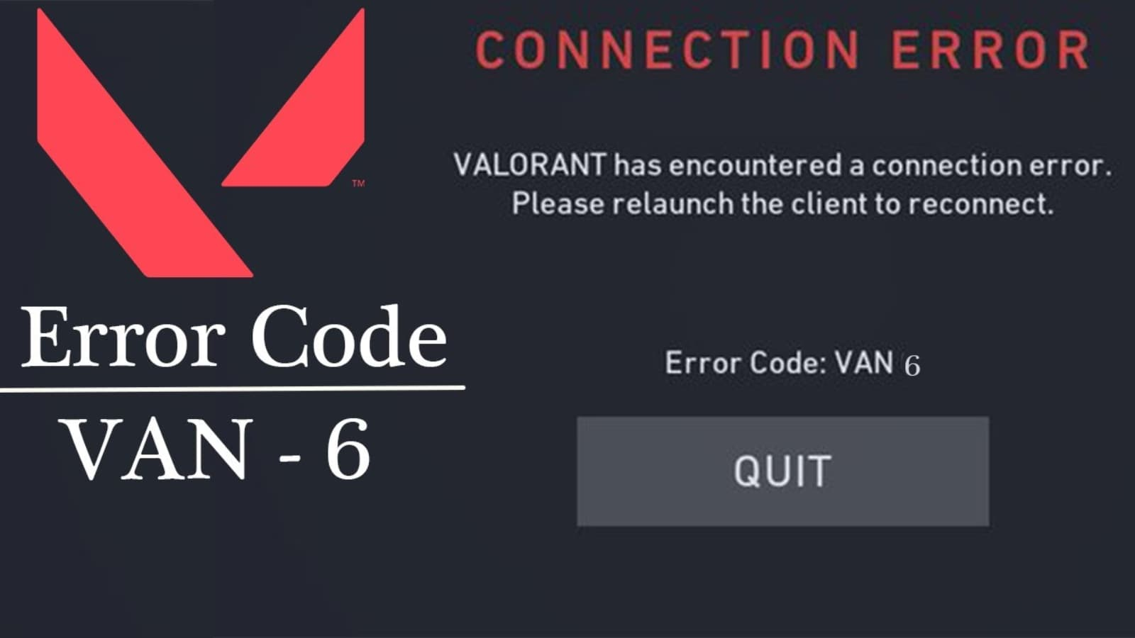How To Fix Valorant Error Code VAN 6 Easily: All you need to know