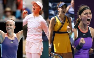 Maria Sakkari, Iga Swiatek, Belinda Bencic and Petra Kvitova