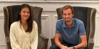 Daniil Medvedev and Emma Raducanu