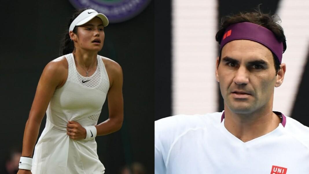 Emma Raducanu and Roger Federer