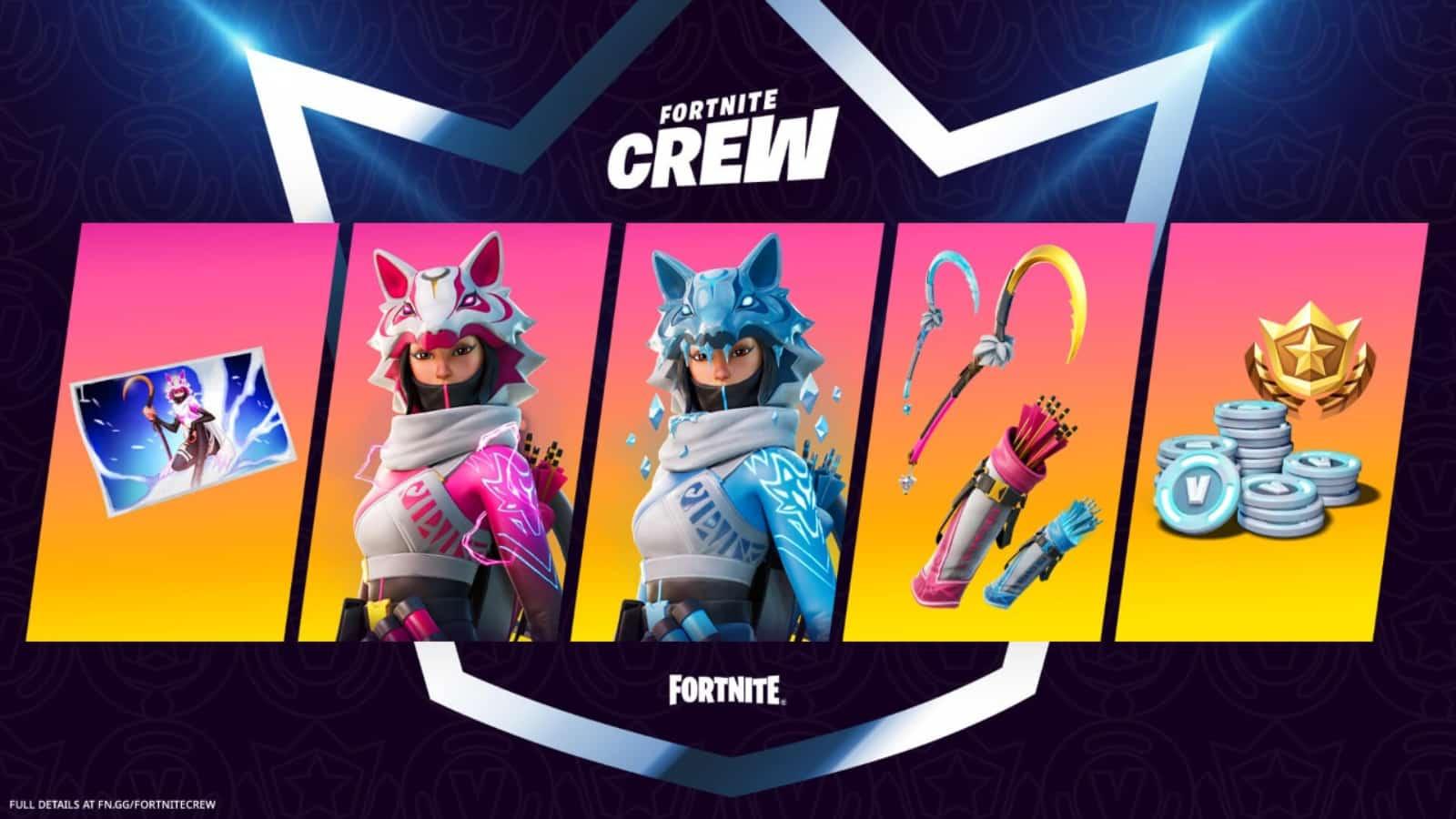 Fortnite Crew Pack 2021 for September to November