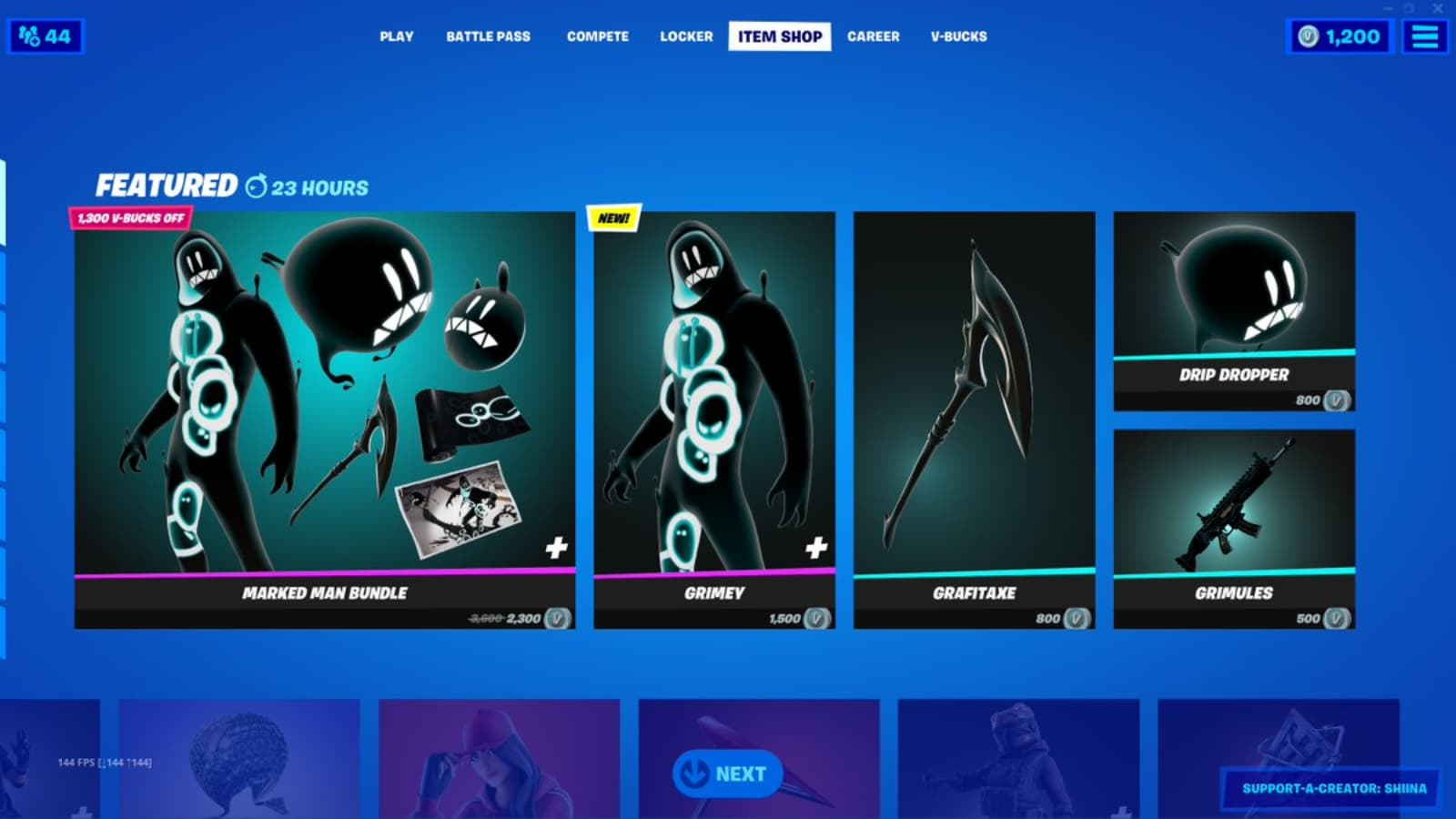 How to Get New Fortnite Grimey Skin from Marked Man Bundle