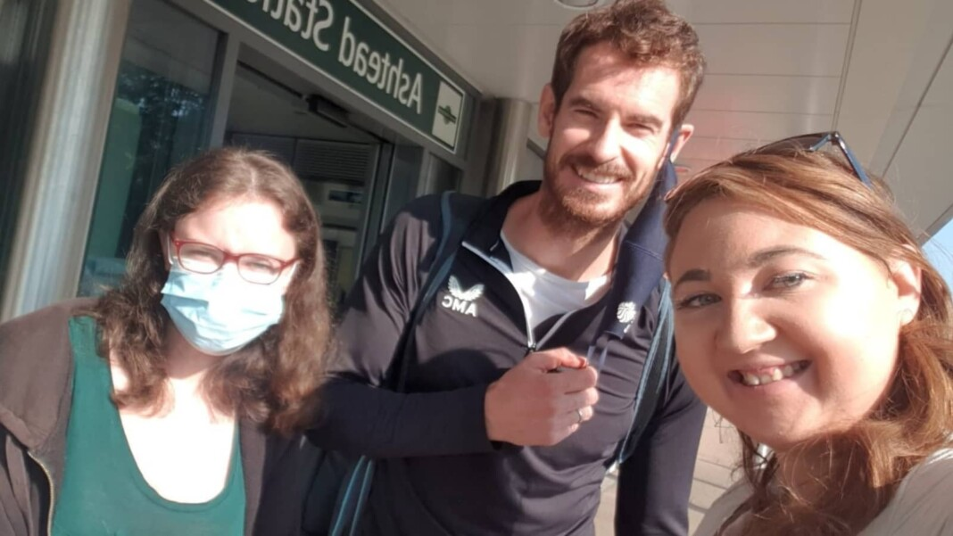 Andy Murray with fans