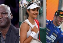 Michael Jordan, Emma Raducanu and Daniel Ricciardo