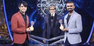 Neeraj Chopra and PR Sreejesh with Amitabh Bachchan