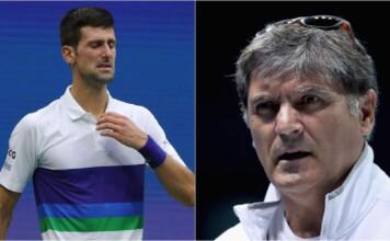 Novak Djokovic and Toni Nadal