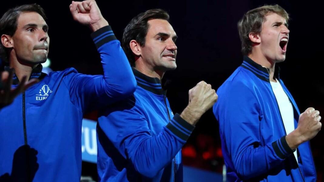 Rafael Nadal, Roger Federer and Alexander Zverev