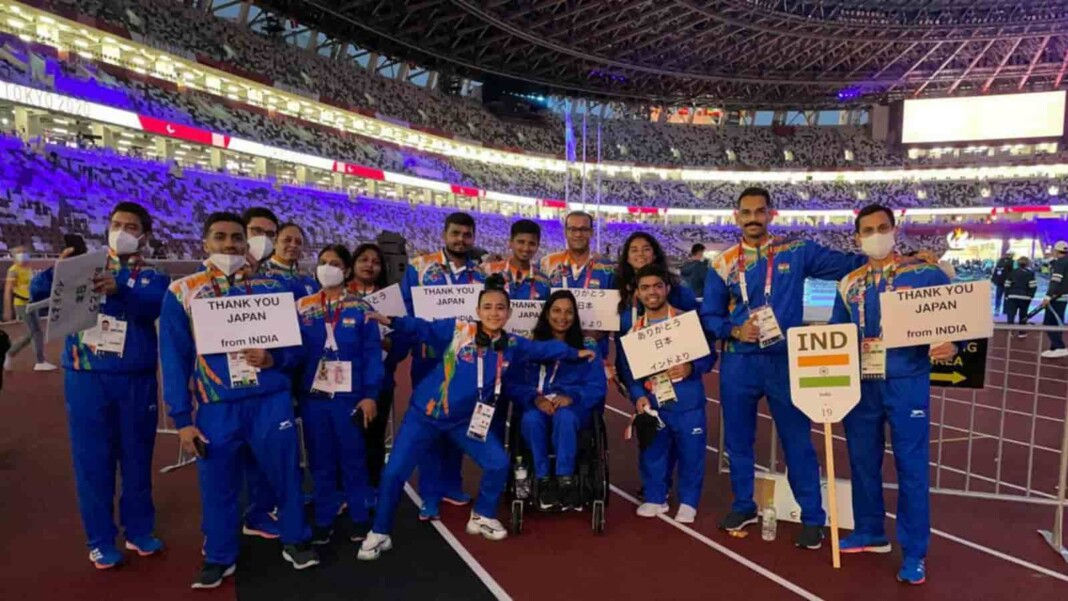The Indian delegation at the closing ceremony