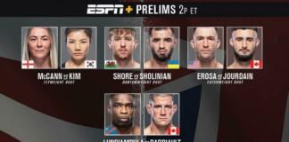 UFC Vegas 36 Prelims