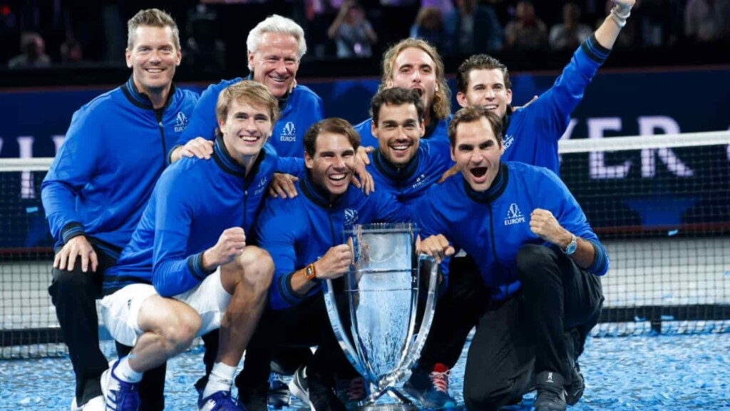 Victorious Team Europe at the 2019 Laver Cup