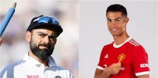Virat Kohli and Cristiano Ronaldo