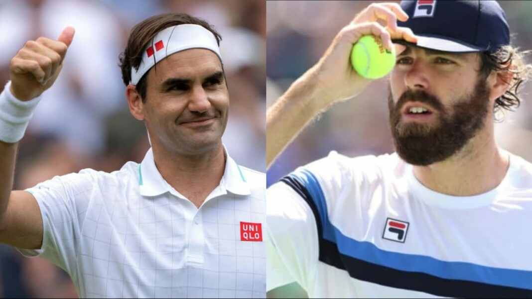 Roger Federer and Reilly Opelka