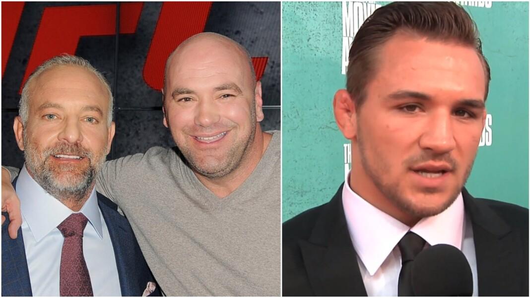 Lorenzo Fertitta, Dana White and Michael Chandler