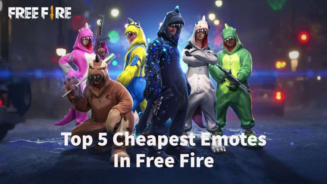 Top 5 Cheapest Emotes in Free Fire
