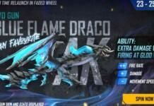 AK47 Blue Flame Draco in Free Fire
