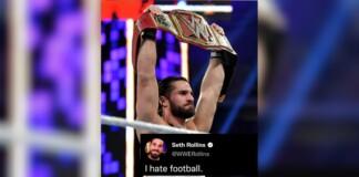 Why does Seth Rollins tweet 'I hate Football'
