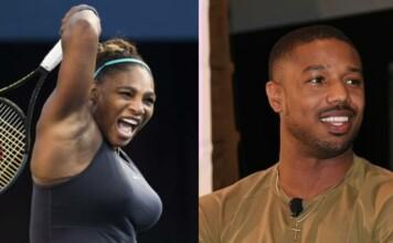 Serena Williams and Michael B. Jordan