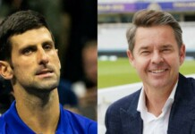Novak Djokovic and Todd Woodbridge