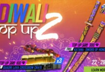Free Fire Diwali top up event