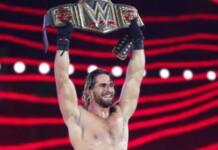 Seth Rollins as the WWE Champion