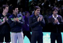 Andy Murray, Novak Djokovic, Roger Federer and Rafael Nadal