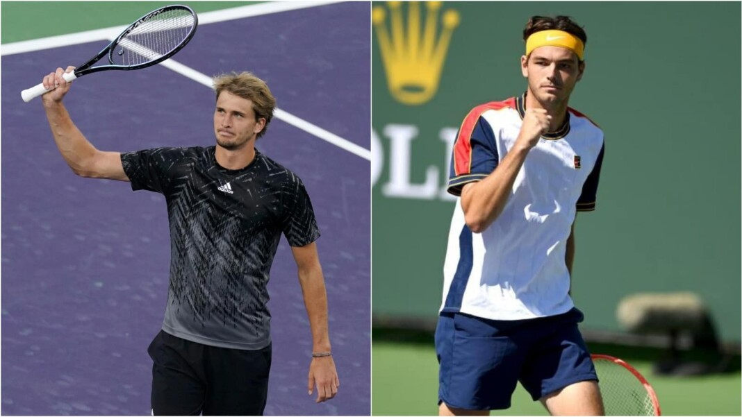 Alexander Zverev vs Taylor Fritz will clash at the Indian Wells Masters 2021