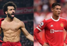 Cristiano Ronaldo and Mohamed Salah