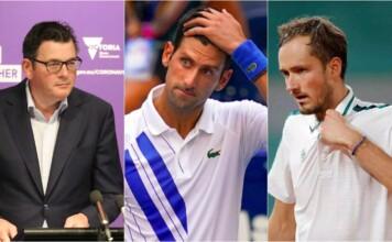Daniel Andrews, Novak Djokovic and Daniil Medvedev - 2022 Australian Open controversy