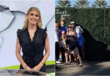 Eugenie Bouchard and the Indian Wells Miss You wall