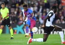 Ansu Fati scored to equalise against Valencia