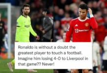 """""""Ronaldo will never lose like Messi,"""" old Tweet goes viral after Liverpool humiliates Manchester United at Old Trafford"""