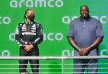 Shaquille O'Neal at US Grand Prix