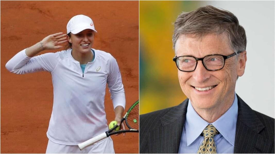 Iga Swiatek and Bill Gates