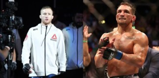 Justin Gaethje and Michael Chandler