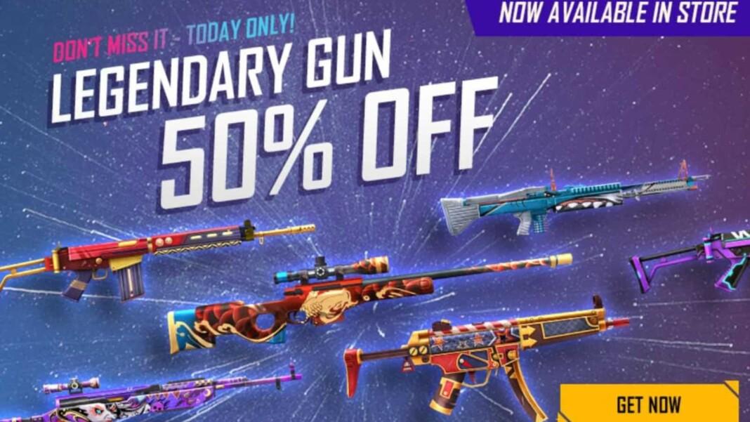 Legendary Gun Skin in Free Fire