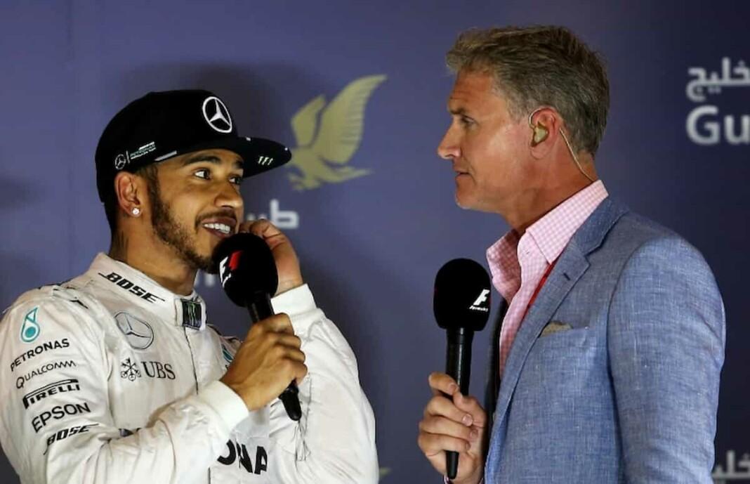 Lewis Hamilton and David Coulthard