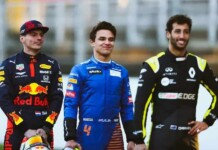 Max Verstappen, Lando Norris and Daniel Ricciardo