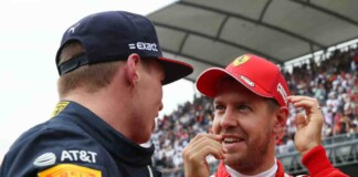 Max Verstappen and Sebastian Vettel