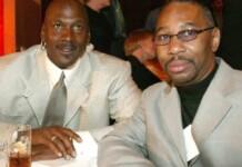 Michael Jordan and Larry Miller