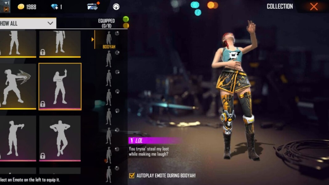top 5 emotes in free fire