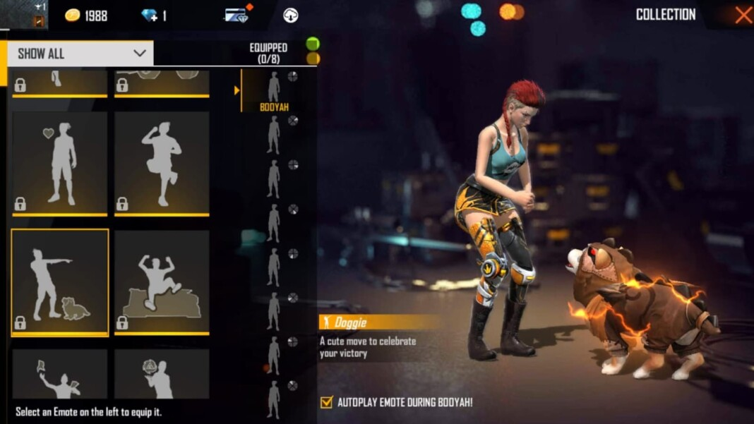 best emotes in free fire